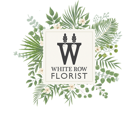 WhiteRow FloristWebsite HeaderBotanical