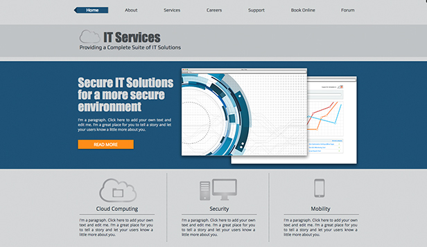 Technology & Apps website templates – IT Solutions