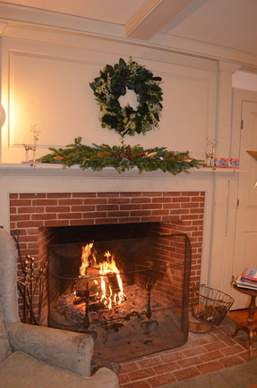 Fireplace in the Great Room at Hartman's B&B