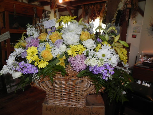 Large Fresh Flower Basket
