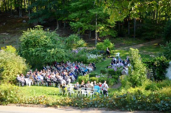 Hartman's Gardens for Wedding Ceremony