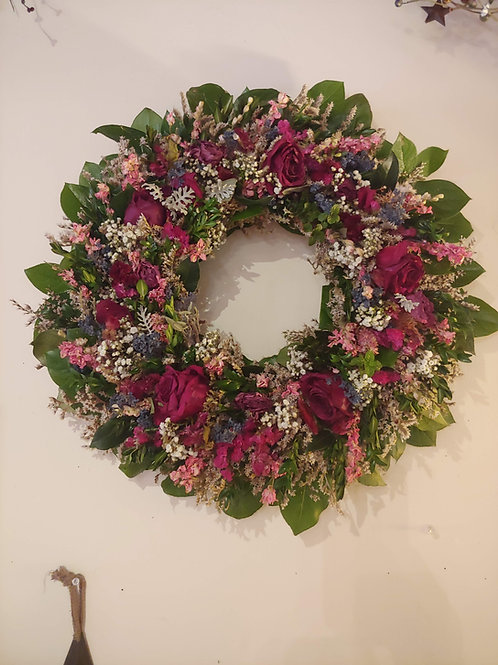 "16"" Dried Flower Wreath"