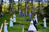 Wedding Party on The Moss