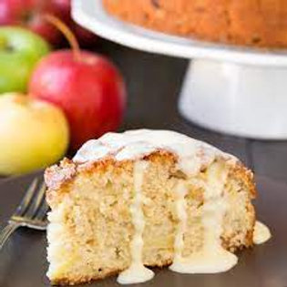 Irish Apple cake with Custard Sauce-Slice