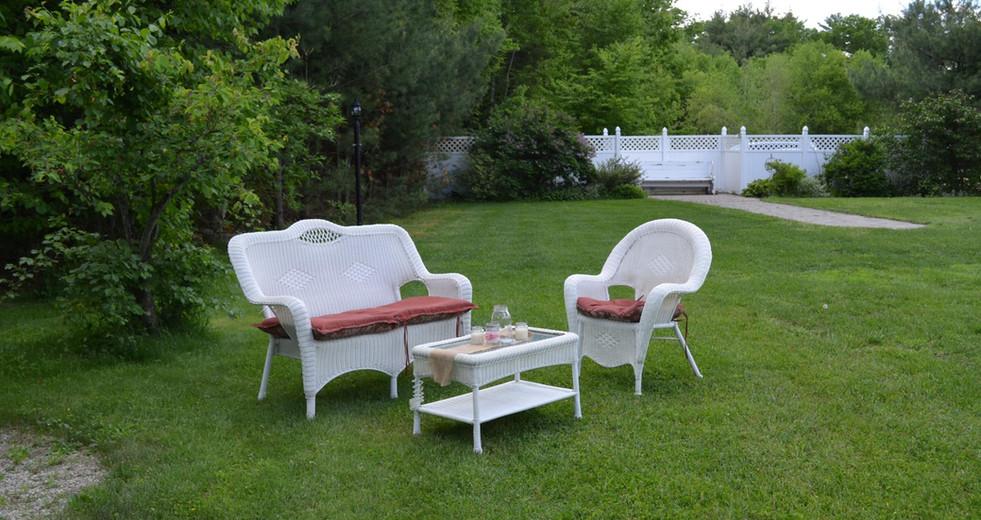 Outdoor Seating at Hartman's B&B