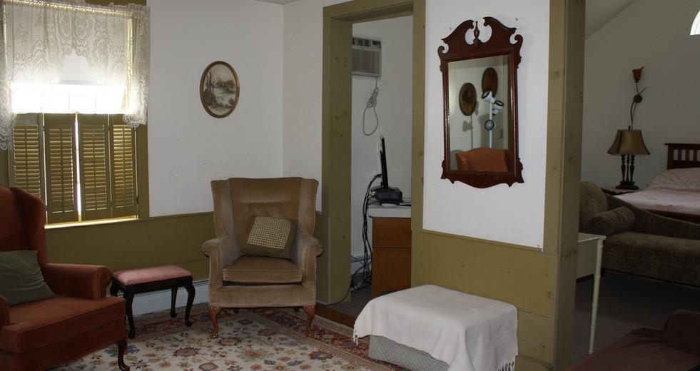 Bridal Suite Sitting Room at Hartman's B&B