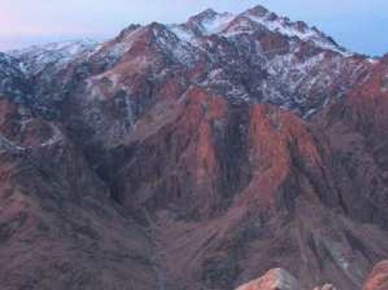 This is snow on Mount Sinai.
