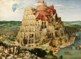 An historic depiction of the Tower of Babel