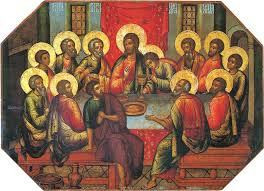 See the halos are representative of their minds in Heaven, while their bodies are still on earth. Notice Judas does not have a halo.