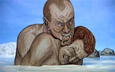 An interpretation of a scene from Dante's Inferno