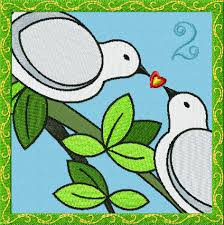 My true love gave to me two turtledoves