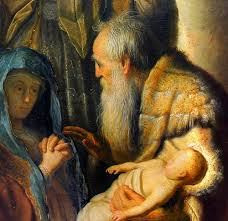 Rembrandt's vision of Simeon and Anna