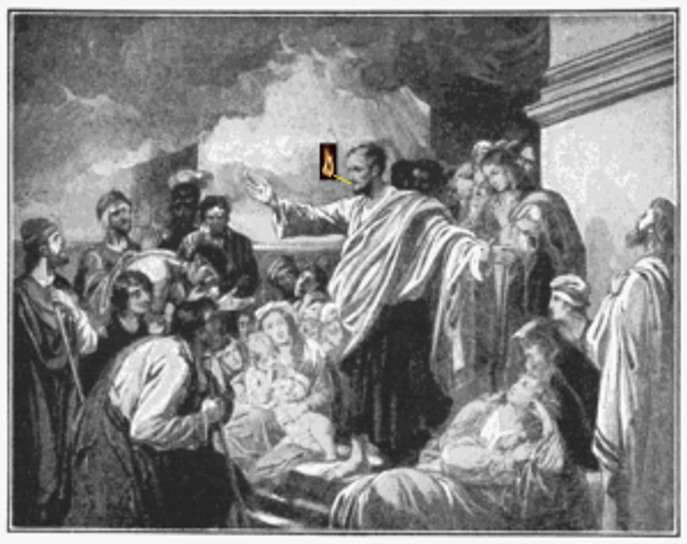 Peter speaking in tongues on the Day of Pentecost