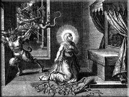Saint Teresa of Avila combats Satan