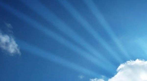 Imagine the vibration of prayer as light beams.