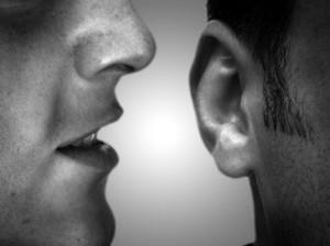 Whisper-in-ear