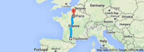 Toulouse to Paris