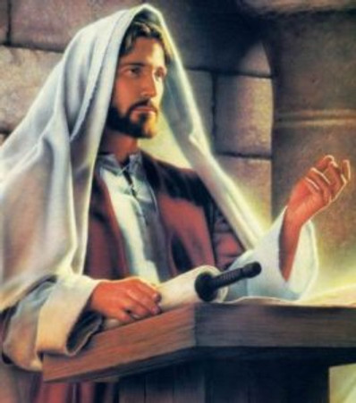Imagine Jesus behind a lectern inside your head, teaching only you.