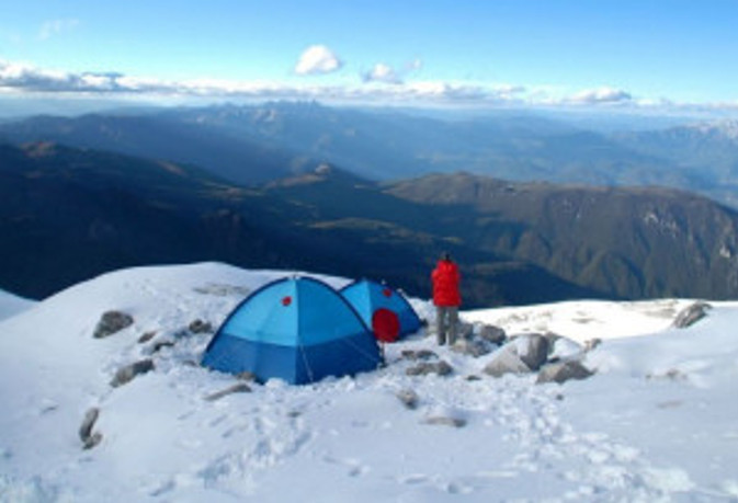High mountains have snow and require shelters.