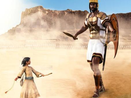 1 Samuel 17: (1a, 4-11, 19-23), 32-49 - Felling Goliath