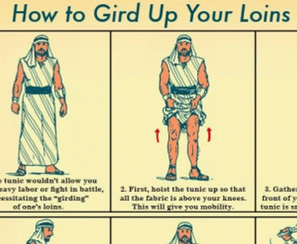 girded loins