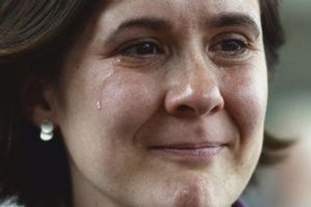 This woman's tears are because the Church of England allowed women priests. Her tears were from a heart raised to help ALL others ... not just to advocate women's rights.