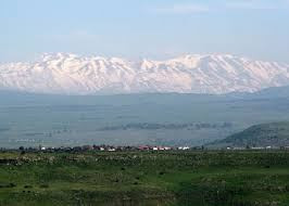 A view of Mount Hermon from inside Israel.