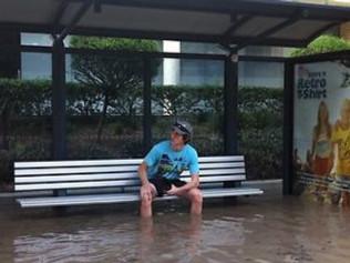 bus stop flood