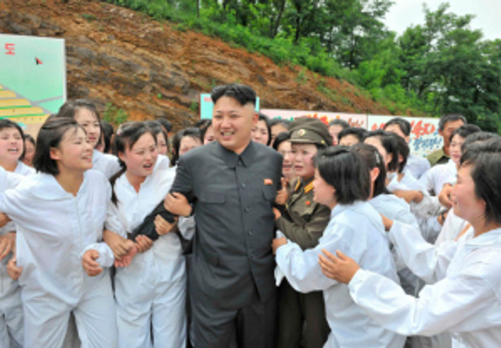 North Korean leader Kim Jong-un visits a Mushroom Farm in this undated photo released by North Korea's Korean Central News Agency (KCNA) in Pyongyang