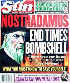 Image result for nostradamus predicts magazine cover