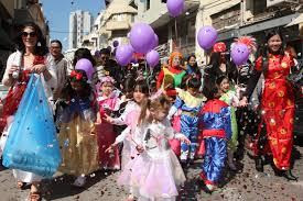 Purim seems like Mardi Gras and happens in March usually