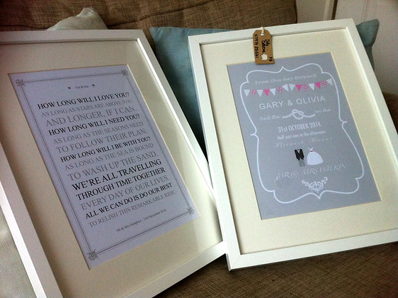 Wedding gifts - A4 print