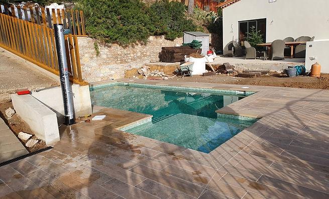 piscine traditionnelle carrelée pool ecolo