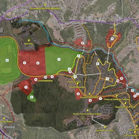 Análise territorial e elaboração de planejamento ambiental urbano participativo