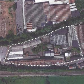 Vue aérienne du site du Solvent rue de Limbourg