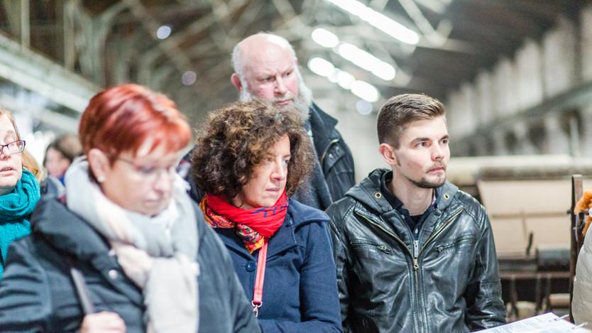 Christine Cayphas, Virginie Boulez, Dominique Gustin et Vincent Dequinze