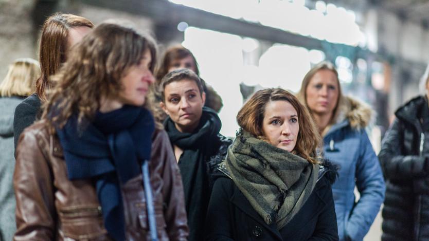 Murielle Depotter, Adeline Lecomte et Aurélie Roskam