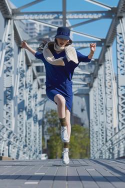 2014-15AW Lisa Navy & Knit Dress
