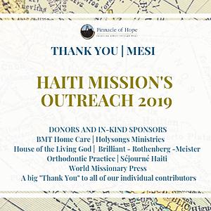 Haiti Mission's 2019