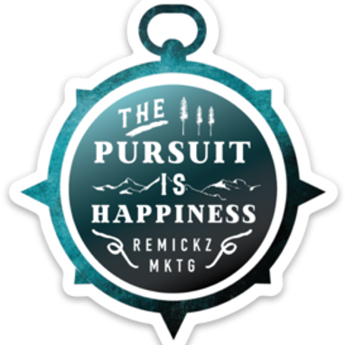 The Pursuit is Happiness sticker
