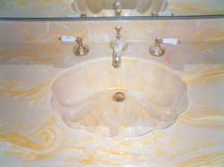 Cultured Marble Vanity Before