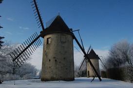 Les moulins sous la neige