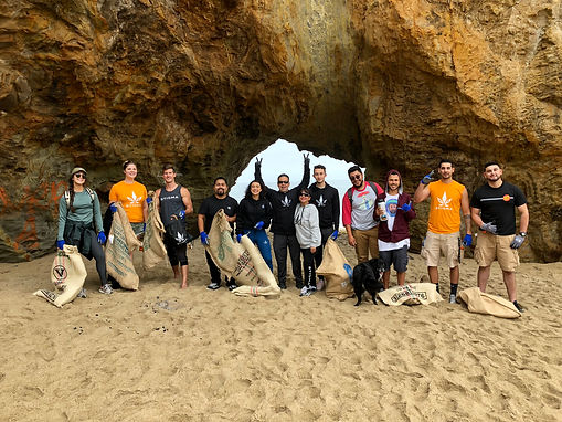 Stigma Brand Ambassadors Community Trash Removal At Beach