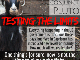 Mars conjunct Pluto: testing the limits
