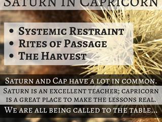 Three themes of Saturn in Capricorn