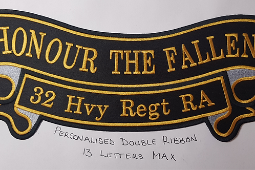 Honour The Fallen With Your own Word For The Bottom Ribbon