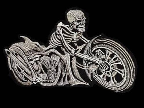 69   Gray Skull Bike