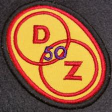 DZ  50 yrs Embroidered Biker Patch