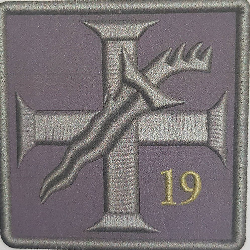 Cross & Dagger 19 Embroidered Military Flash Patch 218