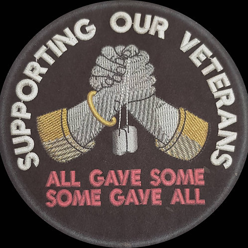 Supporting Our Veterans Embroidered Remembrance Patch 75